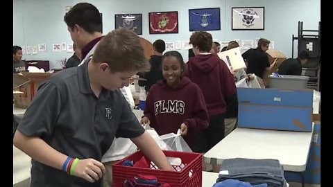 Faith Lutheran students volunteer as part of middle school service event