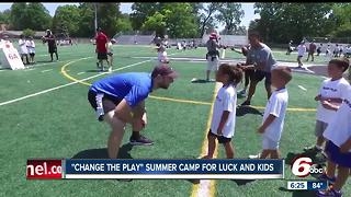 'Change the Play' summer camp with Colts QB Andrew Luck - Video