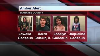 AMBER Alert issued for four Manatee County children - Video