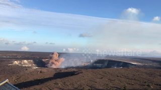 Volcano erupts on Hawaii's Big Island - Video