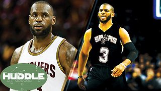 LeBron James BREAKS MJ's Playoff Record, Chris Paul to the Spurs? -The Huddle - Video
