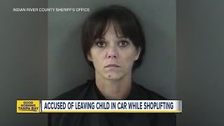 Florida mom arrested for leaving child in car, shoplifting - Video