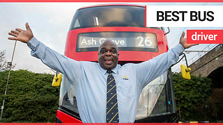 Former homeless person crowned London's top bus driver