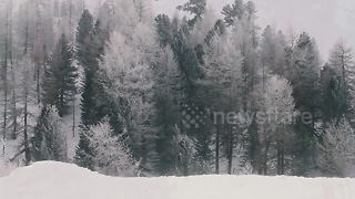 Footage captures winter storm in Switzerland - Video