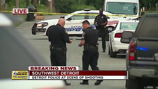 Detroit police at scene of shooting in southwest Detroit