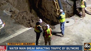 Crews still fixing water main break on Camelback - Video
