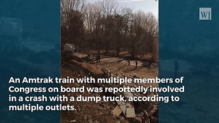 Report: Train Carrying GOP Members of Congress Involved in Collision With Truck - Video