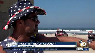 People clean beach to clear record - Video