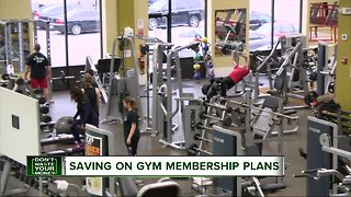 Saving on a gym membership