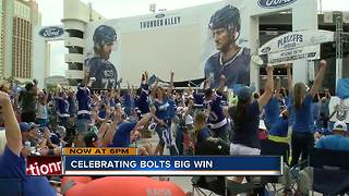 Celebrating the bolts win - Video