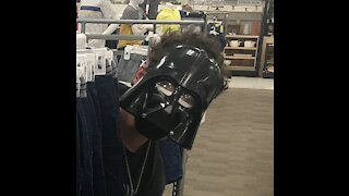 Going to Walmart as Darth Vader