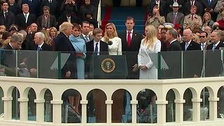 45th President Donald Trump takes the oath of office - Video