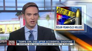 Tampa girl dies after accidental shooting