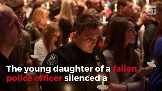 Fallen Officer's Daughter Brings Room To Tears With Touching Statement - Video