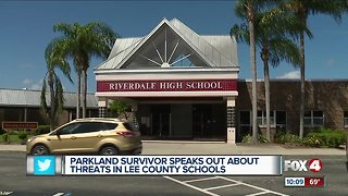 Parkland shooting survivor speaks to shooting threats at Lee County Schools