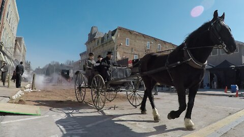 Set of famous movie transports a town back in time