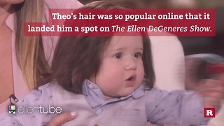 The baby with a full head of hair | Rare People