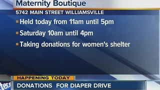 Diaper drive for women in need - Video