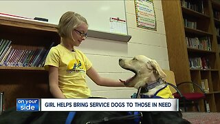 Eight-year-old raises more than $2,000 for service dogs