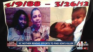 KC mom renews efforts to find her son's killer