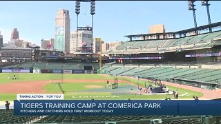 Tigers training camp at Comerica Park