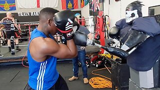 DROID MAYWEATHER! INVENTOR CREATES ROBOT TO SPAR WITH ASPIRING BOXERS