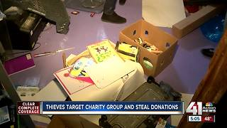 Thieves ransack charity for domestic violence victims - Video