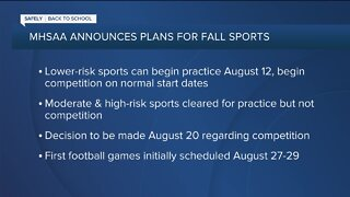 MHSAA announces plans for Michigan high school fall sports practices