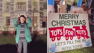 Family displays epic 'Christmas Vacation' themed toy drive