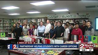 Partnership helping students with career options