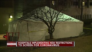Hospitals implementing new restrictions to screen for coronavirus