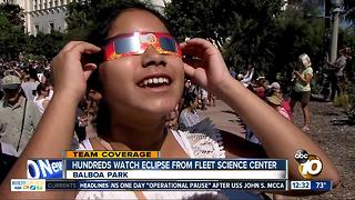 Hundreds gather at Fleet Science Center to watch eclipse - Video