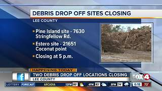 Last day for two hurricane debris locations - Video
