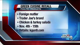 Green Cuisine poultry product recall - Video