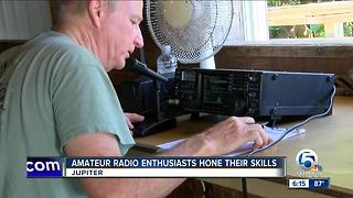 Amateur radio enthusiasts hone their skills in Jupiter - Video
