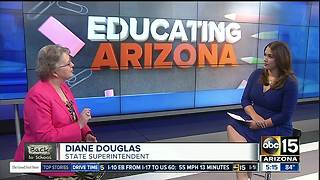 State Superintendent Diane Douglas talks teacher salaries - Video