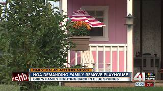 Family battles HOA over granddaughter's playhouse - Video