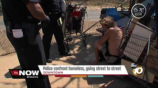 Police confront homeless living in East Village - Video