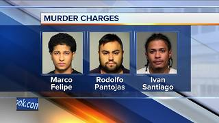 Three charged with murder after violent crime spree