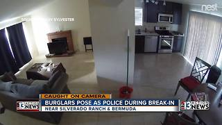 Burglar poses as police officer during break-in - Video