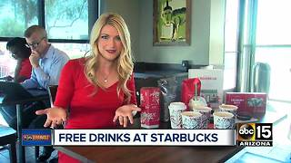 Holiday drinks on sale at Starbucks through Monday! - Video