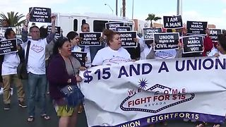 Fight for 15 rally held outside Las Vegas McDonald's - Video