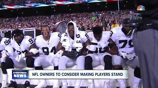 NFL Considers Rule That Will Make Players Stand During National Anthem - Video