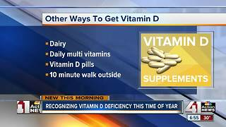 Shorter days with less sunlight can lead to vitamin D deficiency - Video