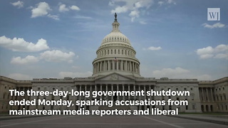 The End of the Government Shutdown Has Opened a Torrent of Media Anger at Democrats - Video