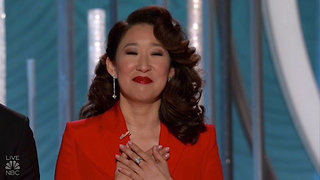Sandra Oh Stole the Golden Globes with These Heartwarming Moments