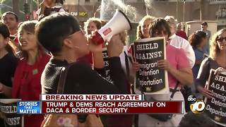 Trump & Dems reach agreement on DACA, border security - Video