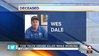 Tow Truck Driver Killed While Working
