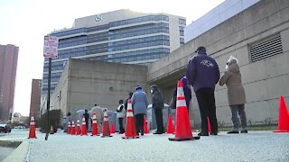 Mass vaccination site opens at M&T Bank Stadium