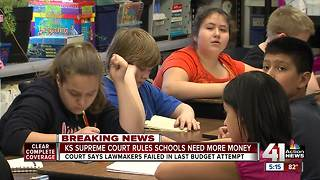 KS Supreme Court rules schools need more money - Video